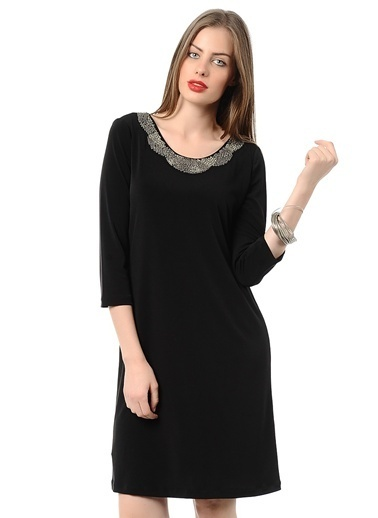 Asymmetry Agenda Elbise Siyah